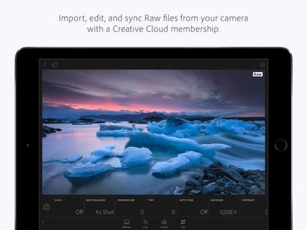 Adobe Photoshop Lightroom ipad ios
