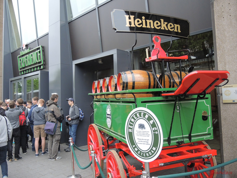 poza trasura Heineken Experience Amsterdam