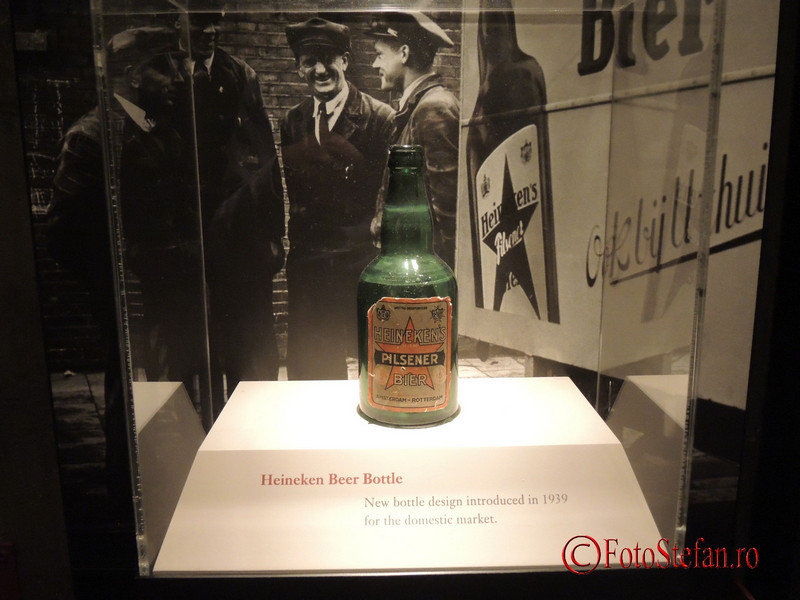 poza halba bere muzeu Heineken Experience Amsterdam