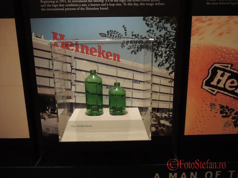 poza sticle bere Heineken Experience Amsterdam