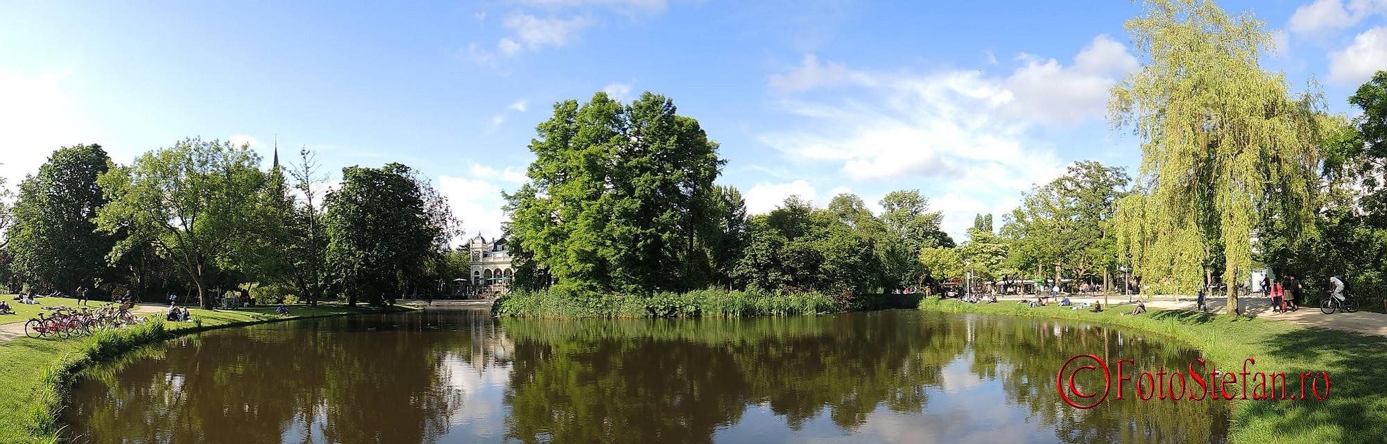 poza panoramica parcul Vondel amsterdam