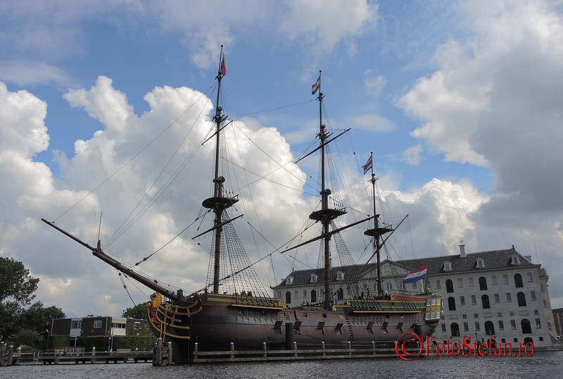 poza nava lemn muzeul maritim amsterdam