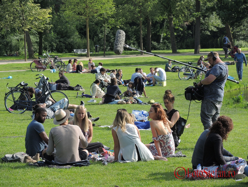 poza filmare parcul Vondel amsterdam