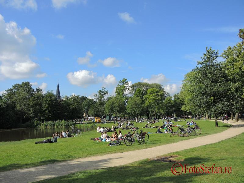 poza parcul Vondel vara amsterdam