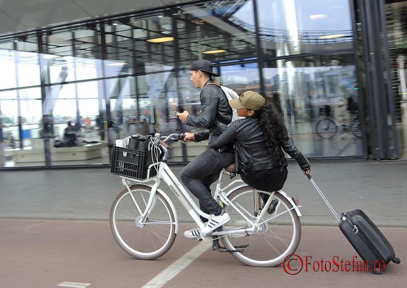 poza amsterdam biciclist troler