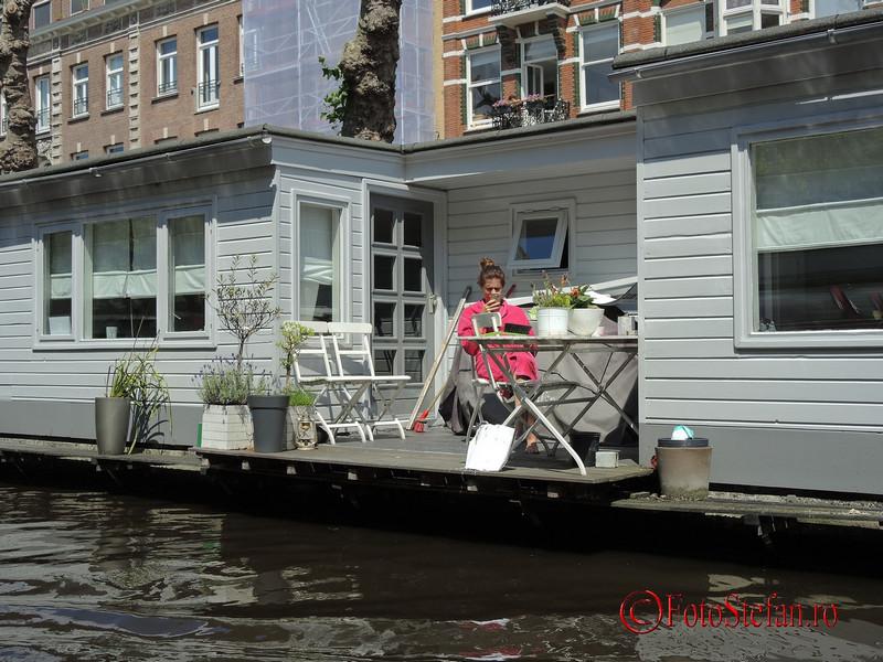 poza amsterdam locuitor casa plutitoare
