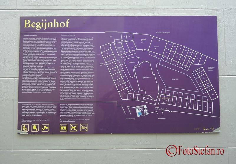 poza harta cartierului Begijnhof Amsterdam