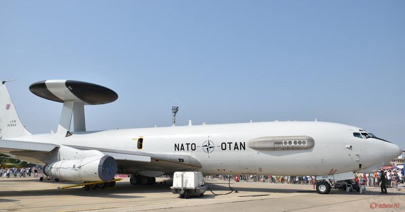 poza avion nato AWACS bucuresti
