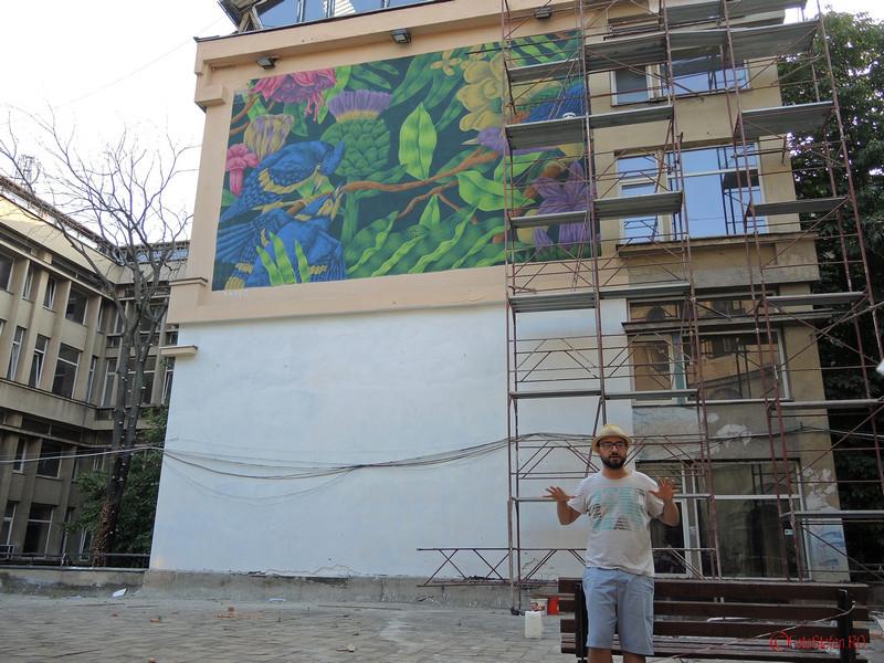 poza graffiti curtea interioara universitatea de arhitectura