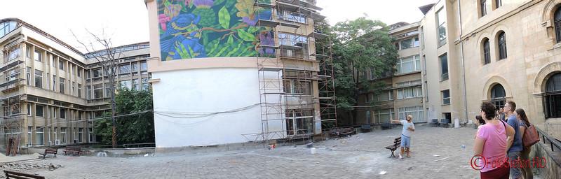 poza panoramica curtea universitatii de arhitectura bucuresti