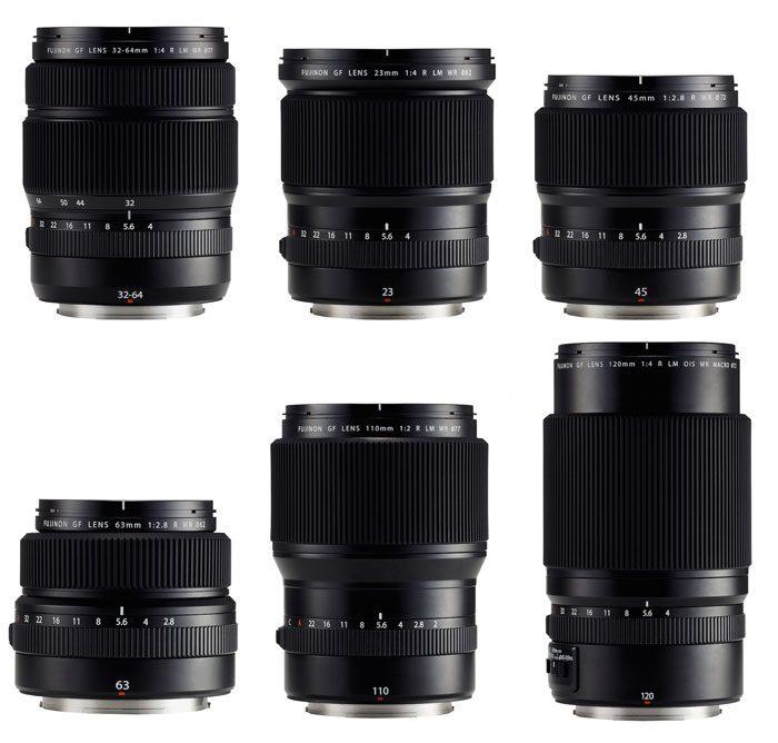 poza obiective pentru Fujifilm GFX 50S