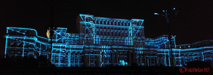 """poze spectacol video mapping Limelight """"Interconnection"""""""