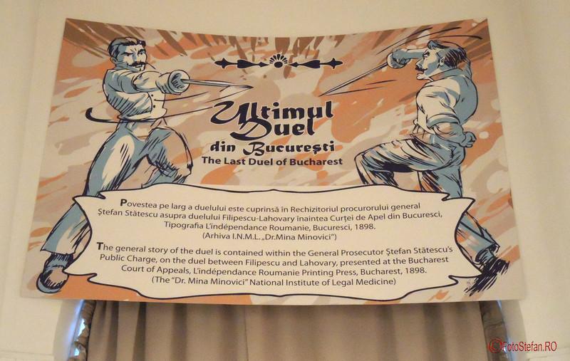 desen afis duel Lahovary Filipescu