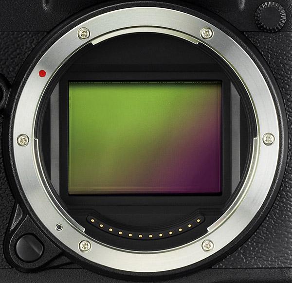 poza senzor Fujifilm GFX 50S