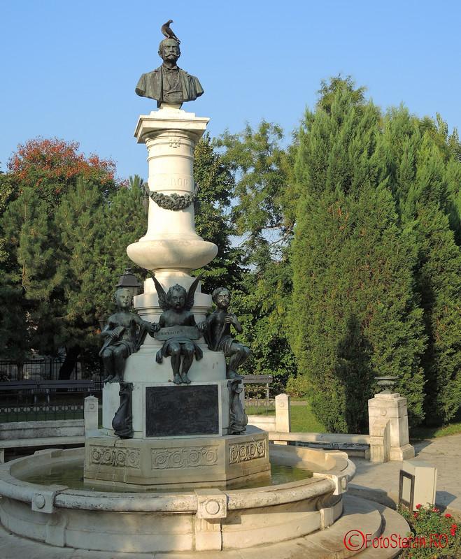 poza grup statuar Luigi Cazzavillan porumbel