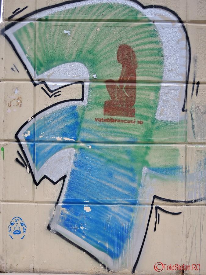 poza graffiti voteaza brancusi