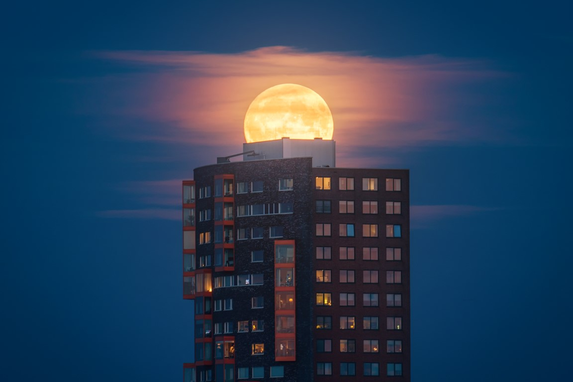 poza super moon super luna