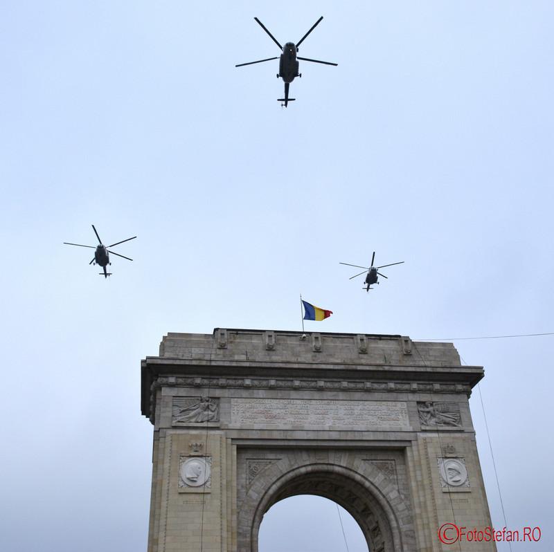 poze elicoptere Repetitii parada  Ziua Nationala  Bucuresti Arcul de Triumf 2016