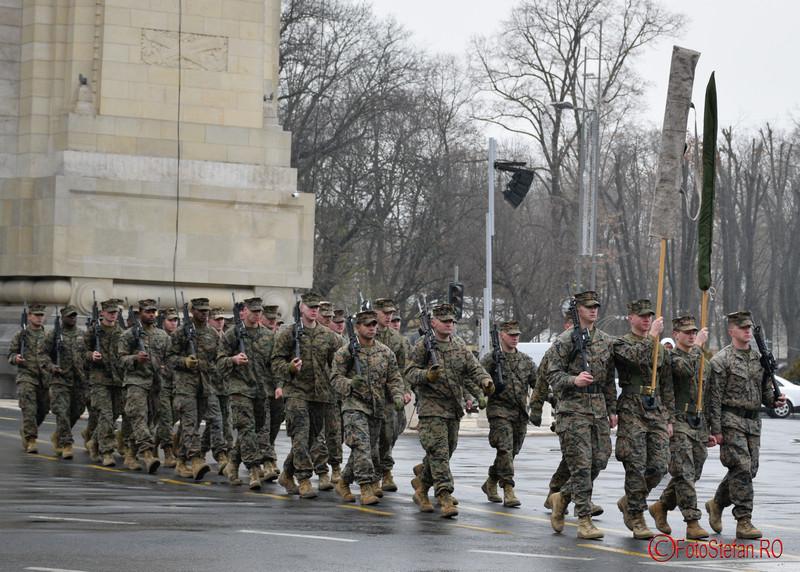 poze militari americani Repetitii parada  Ziua Nationala  Bucuresti Arcul de Triumf 2016