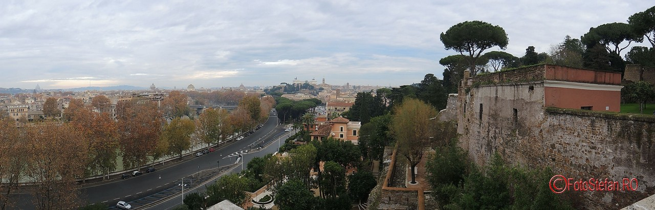 poza panormaica roma colina aventino
