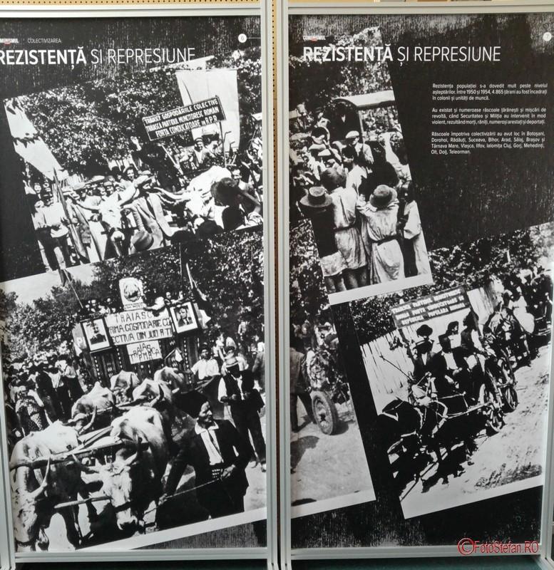 poza panou expozitie foto documentara comunismul in romania