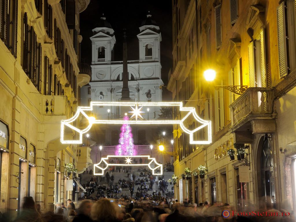 poze luminite craciun roma italia decembrie 2016