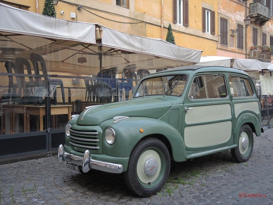 poza fiat roma italia masina epoca