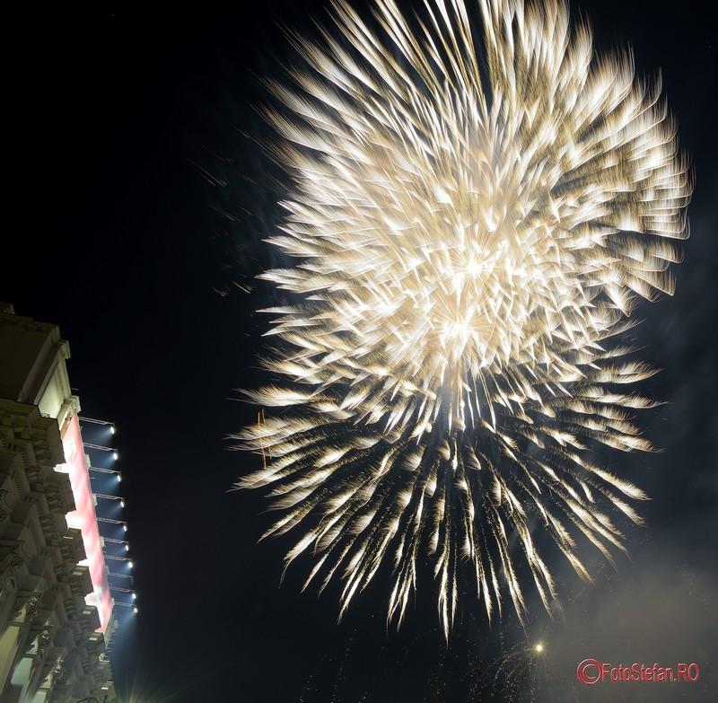 poze focuri de artificii Revelion 2017 Bucuresti piata George Enescu