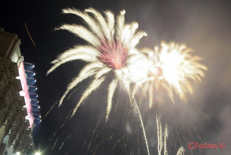 poze focuri de artificii Revelion 2017 Bucuresti piata revolutiei