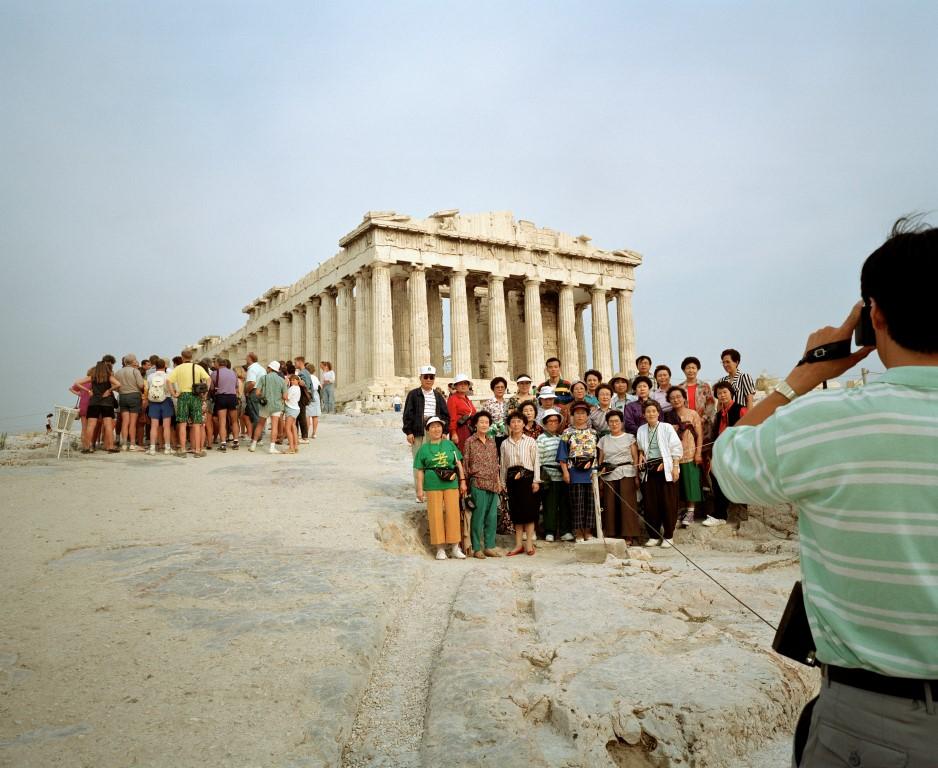 poza grecia atena acropolis