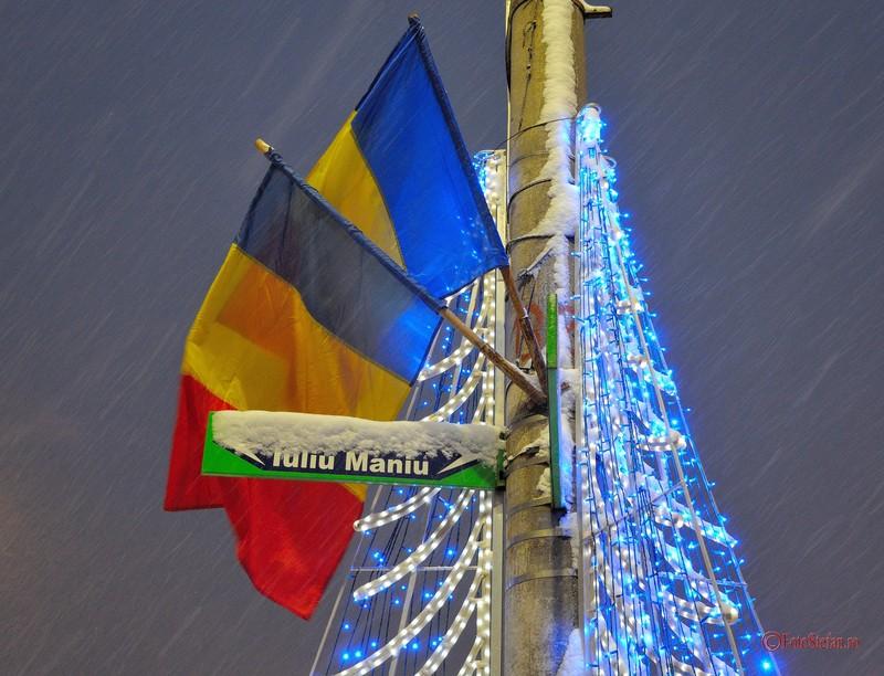poza steaguri romania iarna