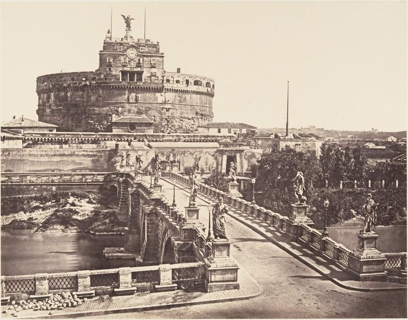 poza castelul sant'angelo 1852 roma italia