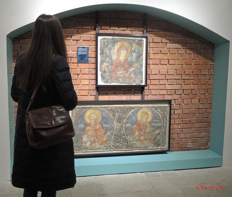 fotografii expozitie fresce manastire demolata Vacaresti
