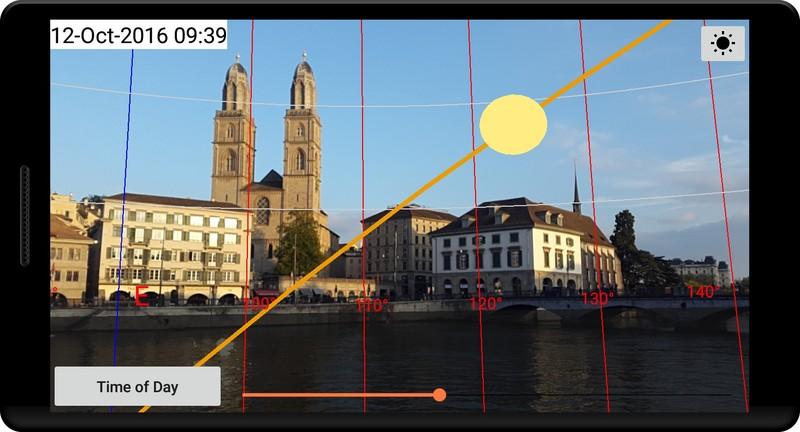 aplicatie gratuita fotograf Sun Locator Lite