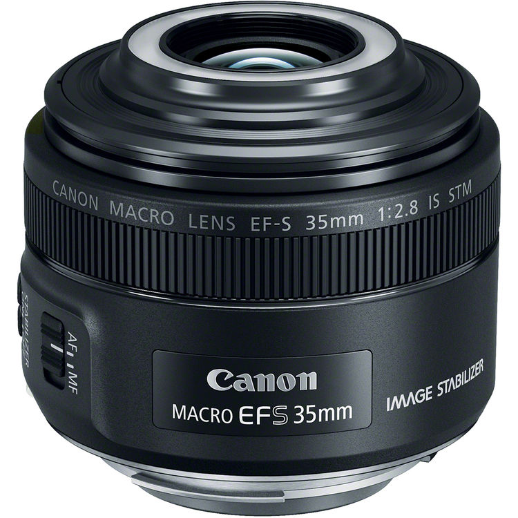 obiectiv macro 35mm led flash-ring integrat canon