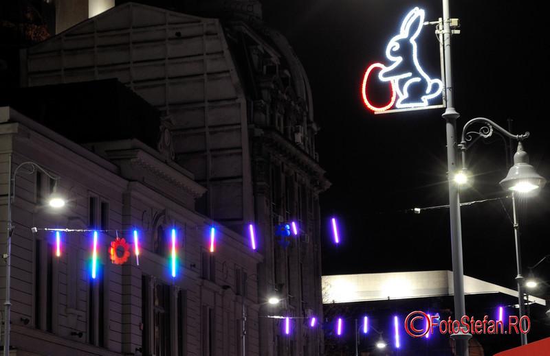 fotografii luminite paste bucuresti CEC calea victoriei