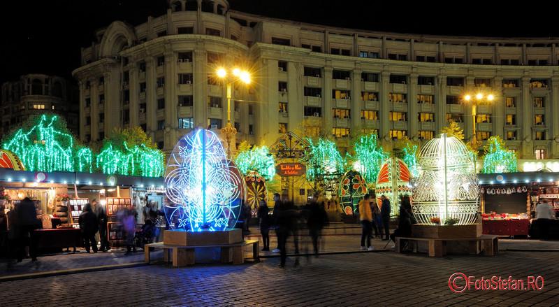 poze luminite decoruri oua Paste Bucuresti targ