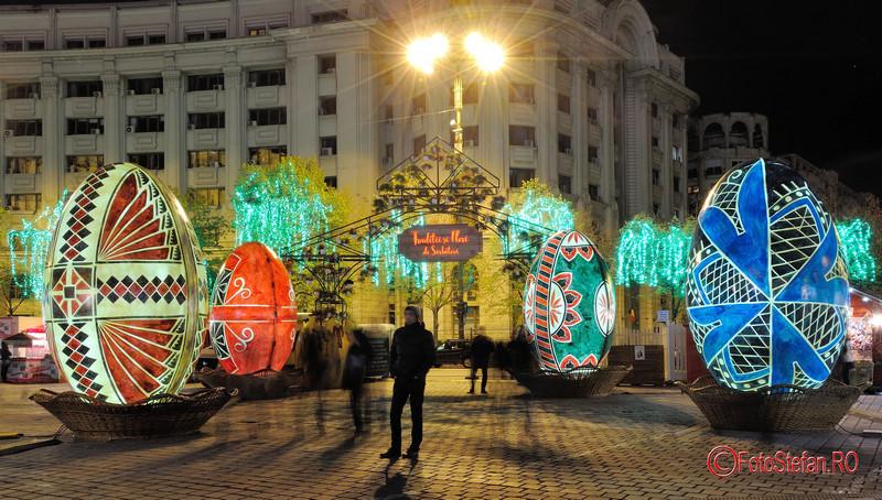 poze luminite decoruri oua Paste Bucuresti targ piata constitutiei