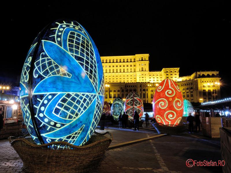 poze seara luminite decoruri oua Paste Bucuresti