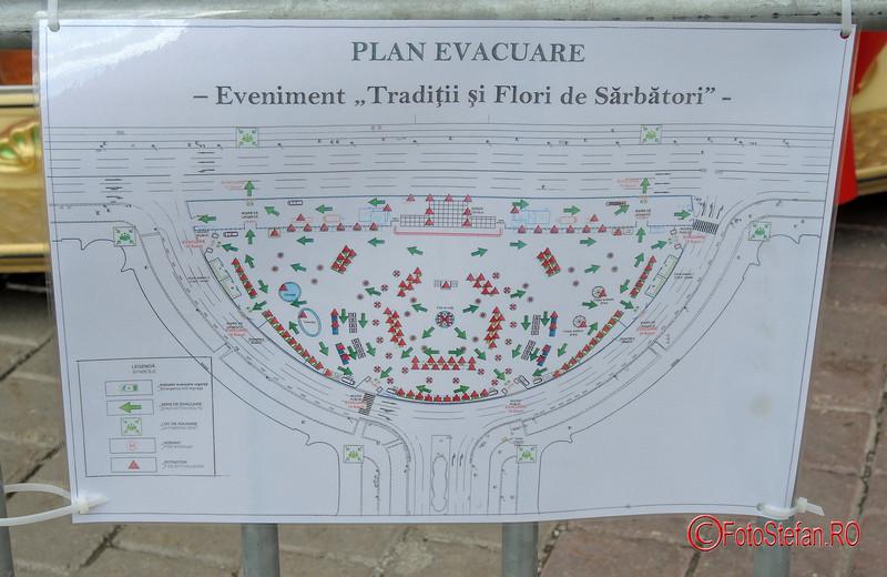 poza afis plan evacuare targul Traditii si Flori de Sarbatori Bucuresti