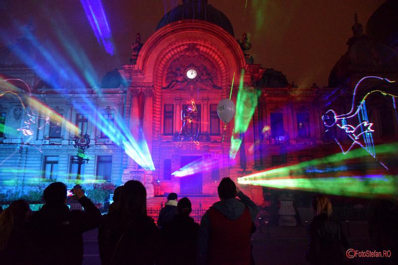 poze spectacol proiectie laser Palatul CEC Calea Victoriei