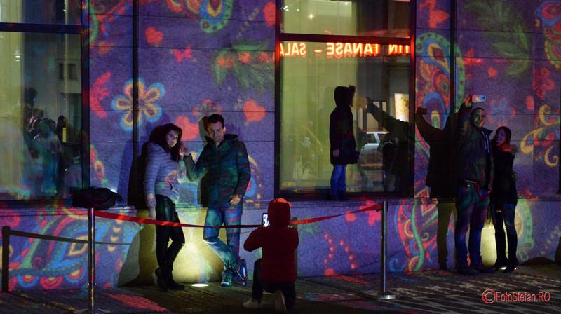 fotografii festivalul luminii bucuresti calea victoriei