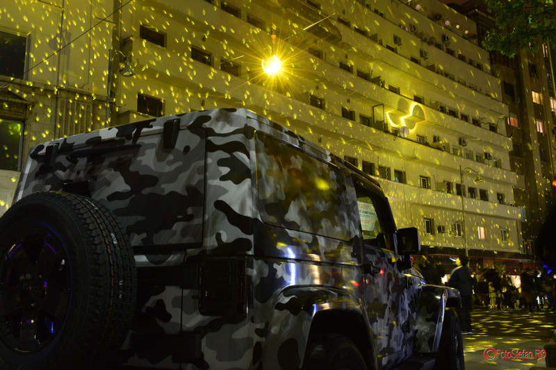 poza spotlight discoballs jeep camuflaj calea victoriei