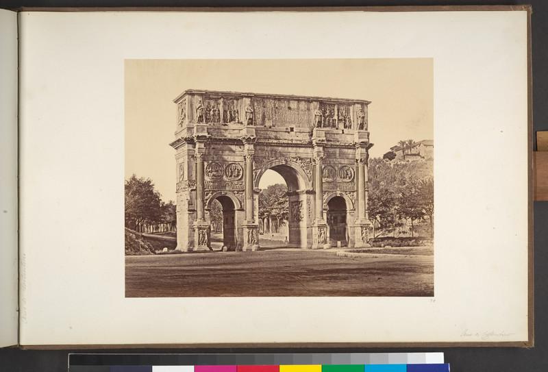 fotografie veche arcul lui constantin roma italia 1850