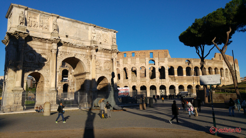 poza foto arcul lui constantin colosseum roma decembrie