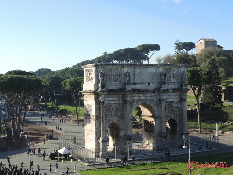 foto poza Arcul lui Constantin roma decembrie