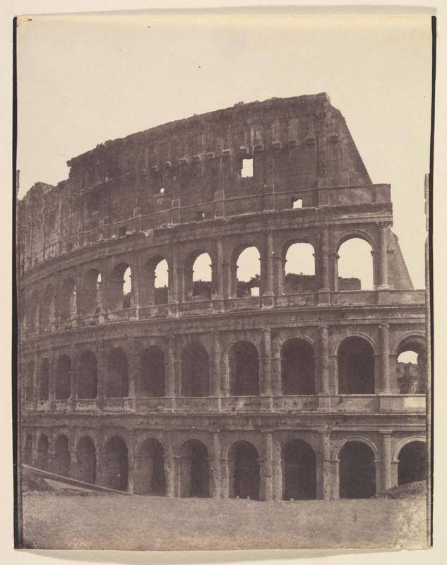 poza veche sepia colosseum roma italia 1850