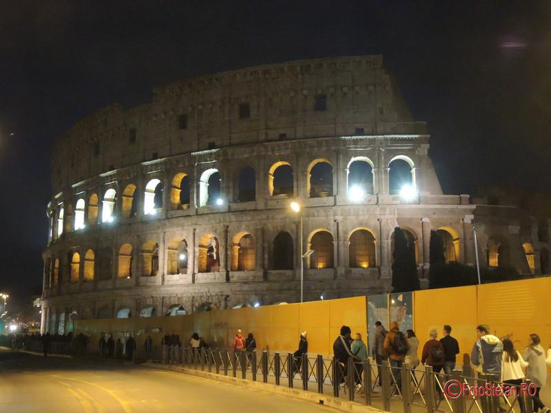poza seara colosseum roma italia