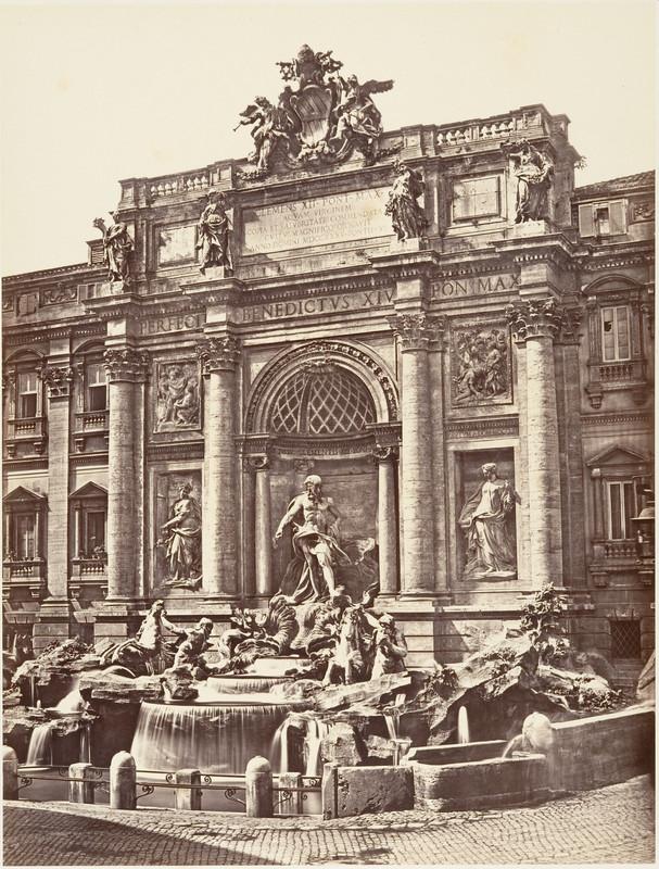 veche fotografie fantana trevi roma 1850
