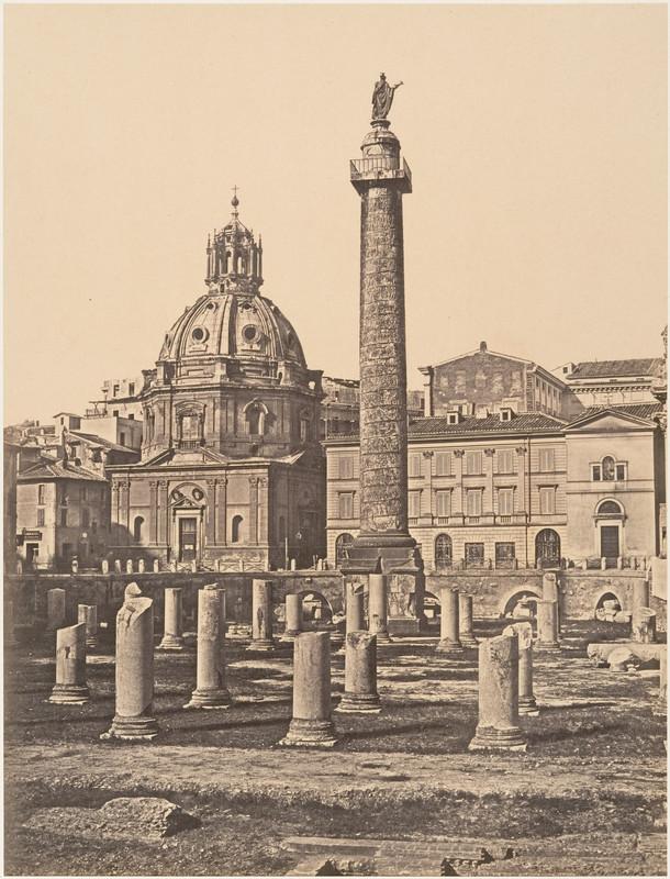 poza veche columna traian roma italia 1850
